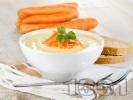Рецепта Крем супа от картофи и моркови със сметана и прясно мляко